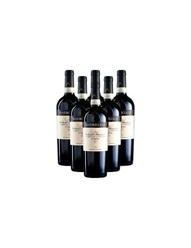 Primitivo Di Manduria DOC Dolce Naturale Madrigale 2018 Promo Vino Rosso Pugliese Offerta 6 Bottiglie