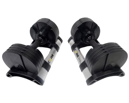 Core Fitness Adjustable Dumbbell Weight Set