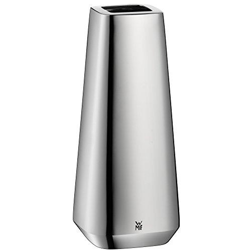 WMF Stratic Vase, 7,7 cm, Cromargan Edelstahl poliert, spülmaschinengeeignet