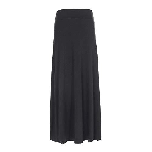 GAZIAR Maxi Skirts for Girls Long Uniform Skirts for Kids Black 7-8 Years