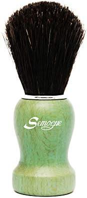 Semogue Pharos C3 Pure Black Horse Shaving Brush Ocean Green Handle product image