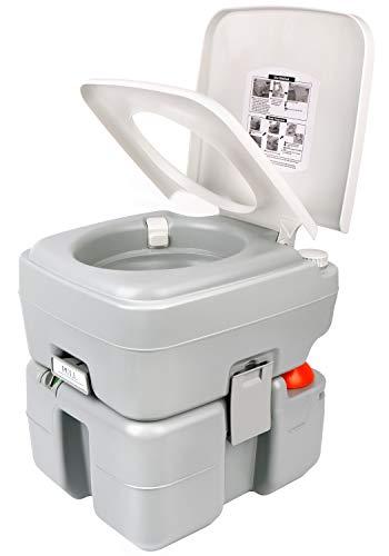Leopard Portable Outdoor RV Toilet (Light Grey)