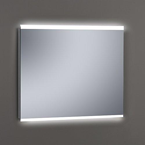 Kristaled Maná Led 100x80 cm Espejo de Baño Arenado con Luz, Cristal,...