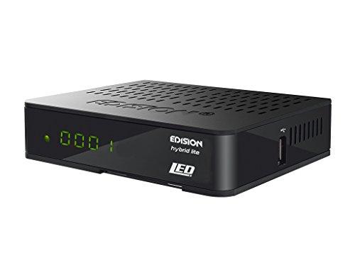 Edision digitaler Kabelreceiver Progressiv Hybrid lite LED für Kabelfernsehen (DVB-C, Full-HD, HDMI, Scart, USB) schwarz