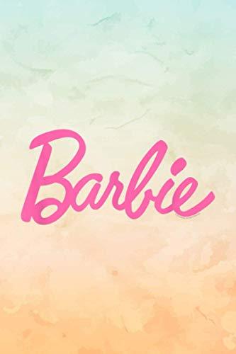 Barbie Logo Recipe Journal Simple Notebook