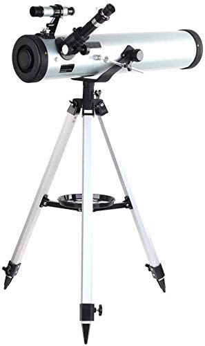 Telescopios Telescopio Astronómico para Exteriores Performance 700-76 Telescopio Astronómico Reflector con Montaje Azimutal Trípode De Aluminio Ajustable para Niños Principiantes