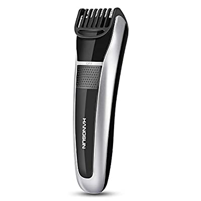 Hangsun Beard Trimmer Hair Clippers Rechargeable Stubble Trimmers Cordless Body Groomer for Men HC150 with Adjustable Length Settings and Safety Lock by HANGSUN