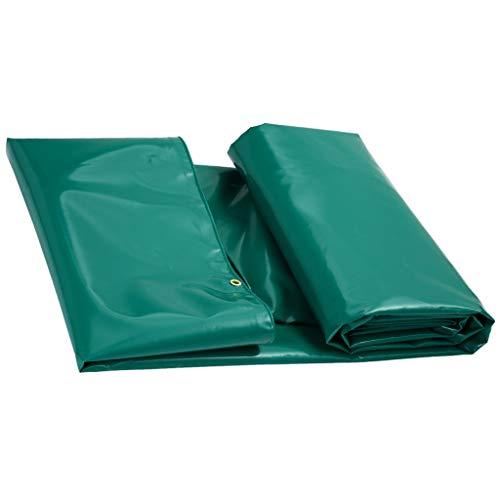 HMLIFE Heavy Duty PVC Tarpaulin Extérieur Camion De Tissu Coupe-Vent Étanche À La Pluie Voiture De Bâche Voiture Étanche À La Pluie Cabanon Camping Tente (Couleur : Green, taille : 4 * 3M)