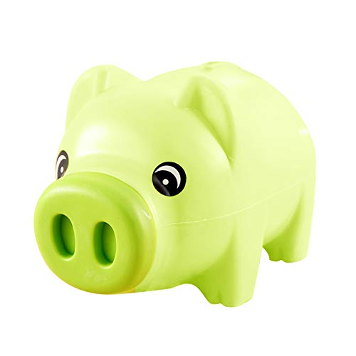 Yibang Hucha de cerdito, regalo creativo, hucha para dinero, hucha para niños, adultos, niñas, niños, color verde