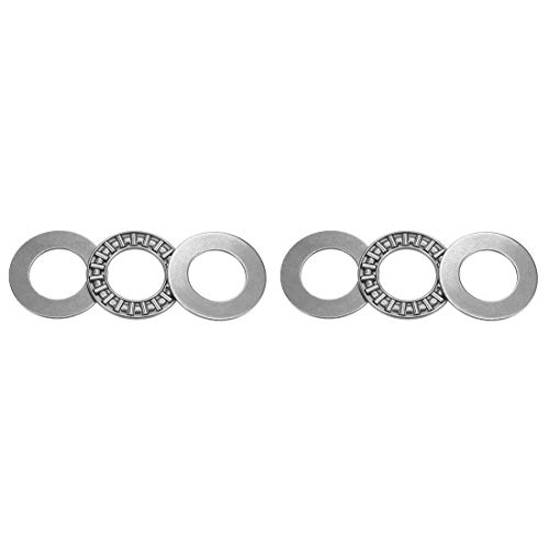 uxcell AXK1730 Thrust Needle Roller Bearings with Washers 17mm Bore 30mm OD 2mm Width 2pcs