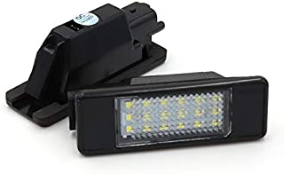 ZTMYZFSL Placa LED de 2 piezas xen/ón blanco 6000K para reemplazo l/ámpara de matr/ícula Plug /& Play 1210 LED 24-SMD luz de matr/ícula 12V DC