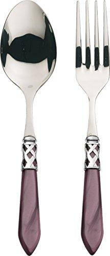BUGATTI ALCLM-N4211/12 Aladdin Tafelservice, Stahl/ABS, 30,5x14x3cm, Violett, 2 Stück