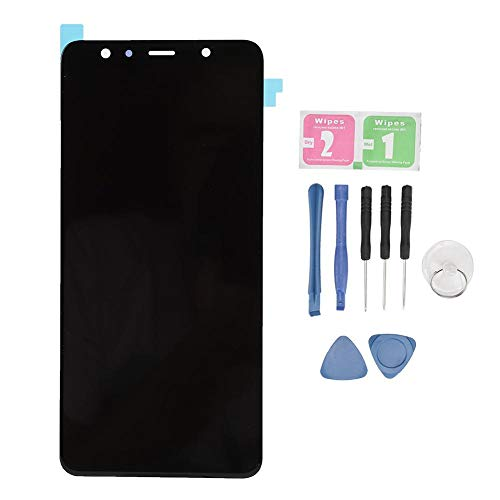 Vervangend scherm voor Samsung, LCD Zwart touchscreen van een mobiele telefoon met verwijderingshulpprogramma voor Samsung A7 2018 A750