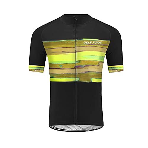 Uglyfrog LUPG01 Estate Gli Uomo Usura Manica Corta Traspirante Ciclismo Maglia Bicicletta Abbigliamento Squadra Ciclismo Bicicletta Jersey