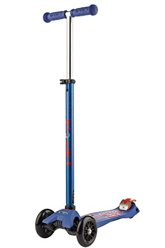 Micro Kinderroller Maxi Deluxe Kickboard Blau mit T-Lenker