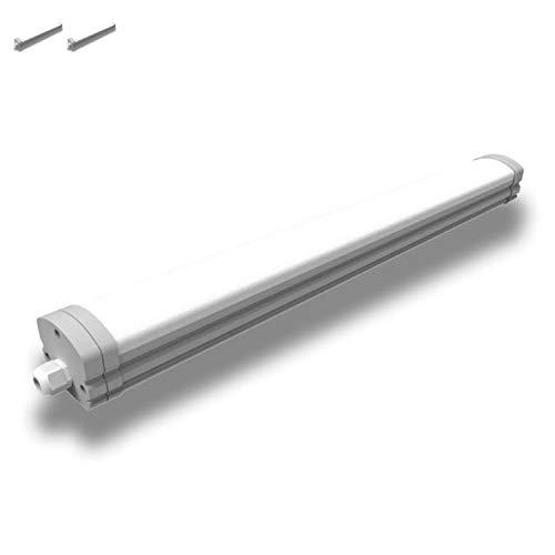 [2 Stück] Feuchtraumleuchte LED 120 cm - 36 Watt - IP65 - neutralweiß - 4000 Kelvin 3600 Lumen 180° Abstrahlwinkel - mit Abdeckung - 5,6cm Höhe - Feuchtraumlampe - Deckenlampe von INNOVATE®