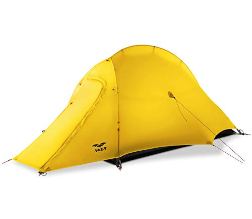 MIER Lightweight 1-Person Tent Easy Setup Outdoor...