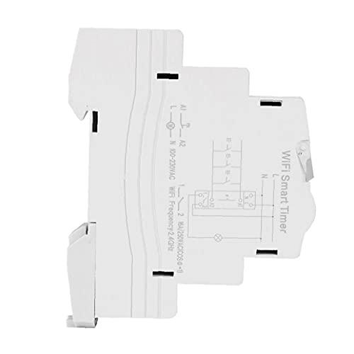 Smart Timer Interruptor WiFi inalámbrico Control remoto App Memory DIN RAIL 16A Diario semanal TM609 para el hogar industrial