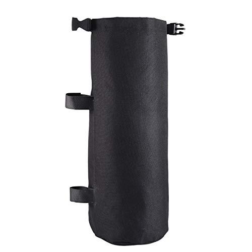MOVKZACV 1 bolsa Oxford con patas de playa, peso ajustable para tienda instantánea, bolsa de arena para exteriores, color negro. Se adapta a todos los bastones de paraguas.