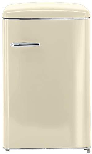 Exquisit RKS 120-16 RVA++MW Retro-Kühlschrank/EEK: A++/121 Liter/Retro-Handgriff/LED-Innenbeleuchtung