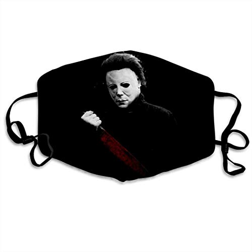 Michael Horror Myers Half men/women face mask reusable washable with adjustable ear loops made in USA