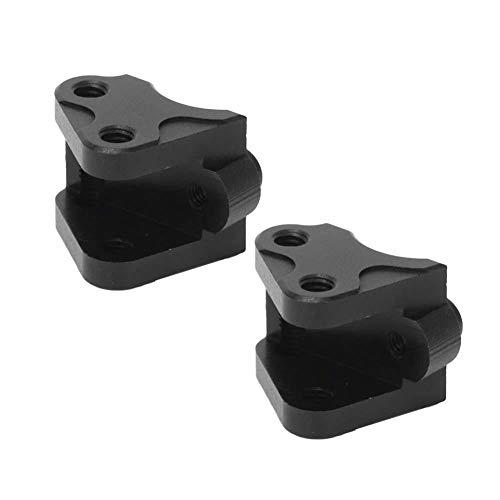 Dilwe RC Link Halterung, Vorne Hinten Unten Stoßdämpfer-Link-Halterung Kompatibel mit SCX10-II AXIAL RC-Car(Schwarz)