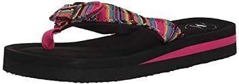 Rocket Dog Women s WARLEY Aloe Stripe Cotton Flip-Flop Pink Multi 8