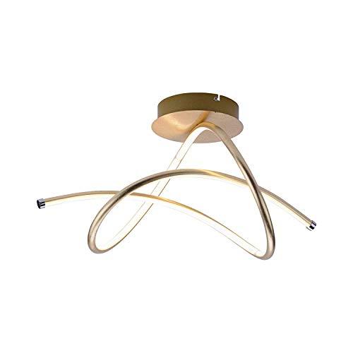 LED Deckenleuchte LeuchtenDirekt Violetta 15441-12 Lampe Gold Geschwungen
