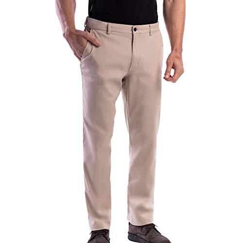 SCOTTeVEST Men's Hidden Cargo Pants | 8 Concealed Pockets | Anti-Pickpocket (Pebble, 3430)