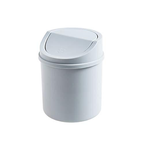 Prullenbak creatieve bureaublad mini Flip vuilnisbakken, Office klein papieren mandje huis woonkamer keuken salontafel met deksel prullenbak huis & tuin