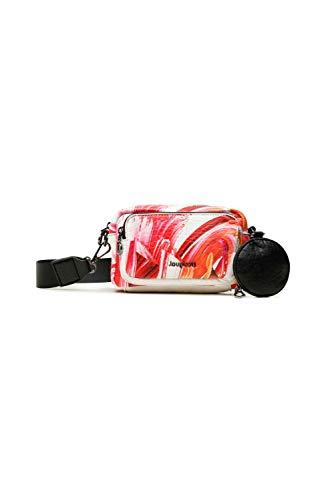 Desigual PU Body Bag, Bolsa para cuerpo de Across para Mujer, blanco, U
