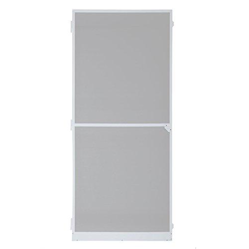 ESTEXO Fliegengitter-Tür, Insektenschutz, Alurahmen, Fliegenschutz, Mückenschutz, weiß, braun (95 x 210 cm, Weiß)