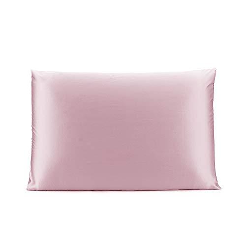 OLESILK 100% Seide Kissenbezug Kissenhülle Haar- und Hautpflege mit Verstcktem Reißverschluss 19 Momme 1 Stück Lotos 40×60cm