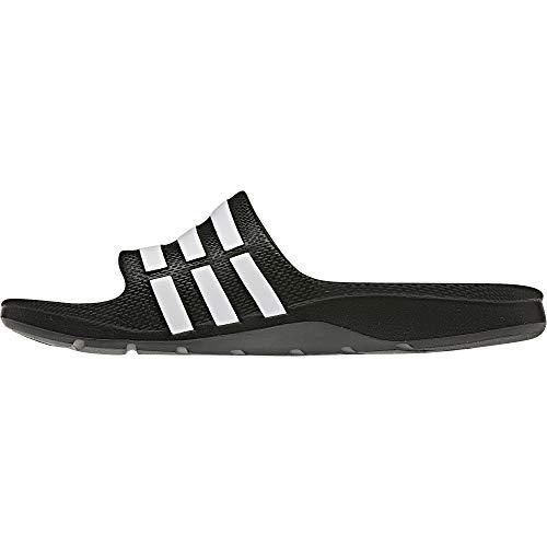 adidas Duramo Slide G06799, Ciabatte da mare/piscina unisex bambino, Black / Running White / Black, 49 1/3 EU