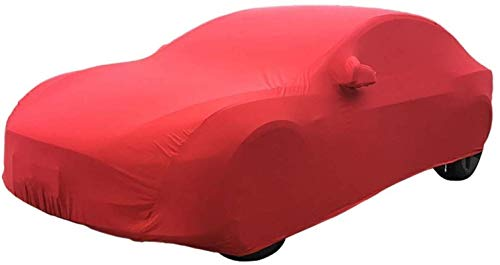 Qivor Outdoor car Cover Car Cover Compatible with Ferrari 575M Maranello Stretch Cloth Car Cover Indoor Exhibition Hall Basement Car Cover Sunscreen Stretch Cloth Car Cover (Color, Black),Red