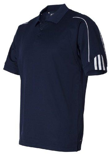 adidas Golf Mens Climalite 3-Stripes Cuff Polo (A76) -Navy/White -4XL
