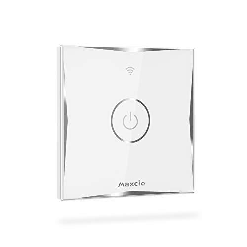 Alexa Wechselschalter, Maxcio Smart Lichtschalter, Wlan Schalter mit Touch Panel für Smart Home, kompatibel mit Alexa, Google Assistant, APP Steuerung, Nullleiter und 2.4 Ghz erforderlich