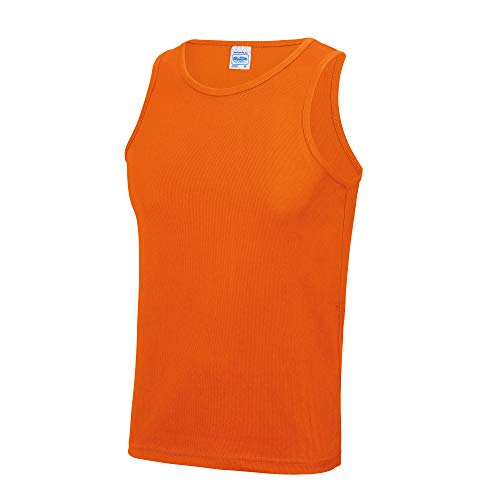 Just Cool Herren Sport Tank Top Gym XL,Electric Orange