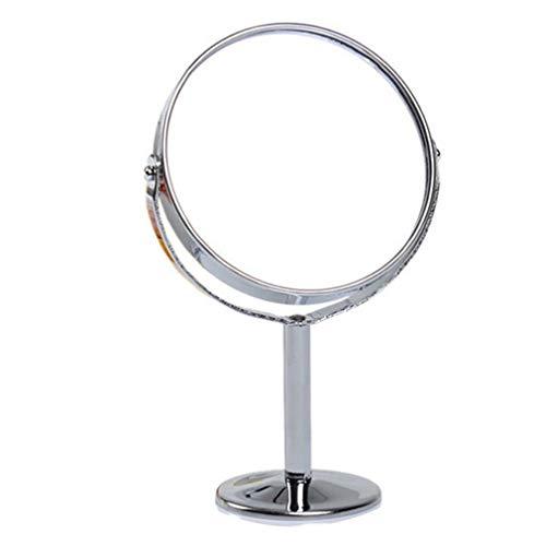 WBFN Metal Mirror make-up spiegel passpiegels Desktop Rotating1: 2 Vergroting Functie vrouwen Make up tools (Color : As show 1)