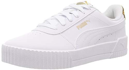 PUMA Damen Carina Leo Sneaker, Weiß Weiß, 39 EU