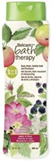 Belcam Bath Therapy 3-in-1 Body Wash, Bubble Bath and Shampoo, Apple/Rose, 32 Fluid Ounce