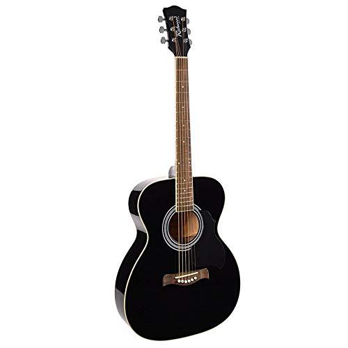 Richwood RA-12-BK Artist Series - Guitarra acústica para auditorio, color negro