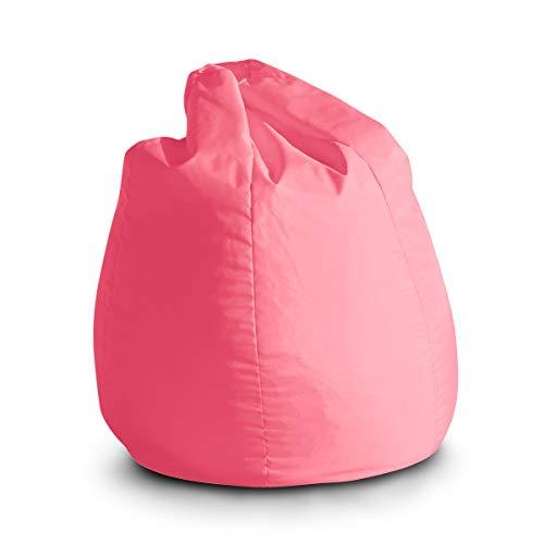 pouf bambini Avalon Pouf Poltrona Sacco per Bambini Bag Jive 65x65x90cm Made in Italy in Tessuto antistrappo Imbottito Colore Rosa
