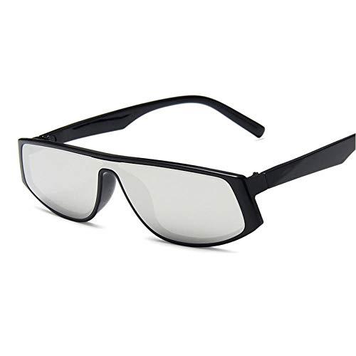 ZZOW Gafas De Sol Rectangulares Retro De Una Pieza para Mujer, Gafas De Sol con Lente De Espejo Tintadas De Lujo, Gafas De Sol para Hombre, Gafas De Sol Uv400