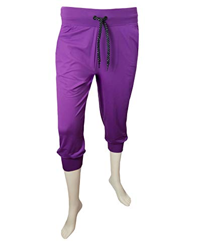 Tchibo TCM Damen Sporthose Yogahose Caprihose Hose 3/4 Länge (XL 48/50)
