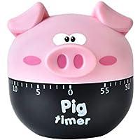 Busirde Dibujos Animados 60min dial del Temporizador de Alarma Forma de plástico del Reloj mecánico de cocción Temporizador de Cocina para Hornear Herramientas Hogar