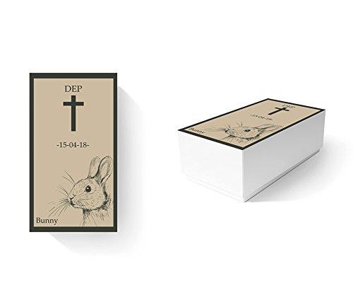 Ataúd Para Animales Ecológico Conejos 100% personalizado   Medidas 50,00 x 20,00 cm x 20,00 cm   Cartón microcanal simple 1,6 mm   Impresión completa y personalizada   Ligero, resistente