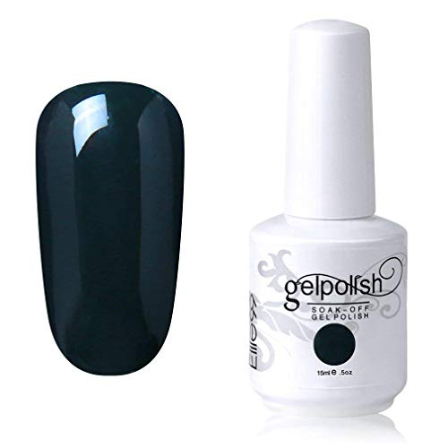 Elite99 Smalto Semipermente per Unghie in Gel UV LED Smalti per Unghie Soak Off per Manicure Verde Scuro 15ML - 1845