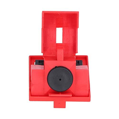 Kit de bloqueo de interruptor de un solo polo, bloqueo de interruptor de abrazadera Estructura meticulosa Superficie lisa Material de nailon PA para electricidad industrial para manijas
