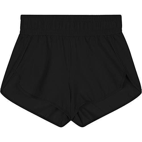 Seafolly Girls' Pull On Elastic Waistband Boardshort, Summer Essentials Black, 10